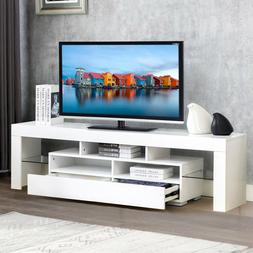 High Gloss 63'' TV Stand Unit Cabinet 2 Drawers Console Tabl