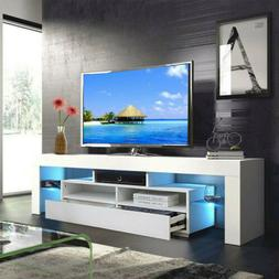 High Gloss 63'' TV Stand Unit Cabinet Console Table RC with