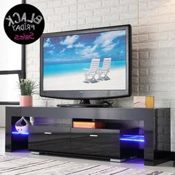 high gloss black tv stand unit cabinet