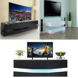 High Gloss RGB LED Light Floating TV Stand Unit Console Cabi