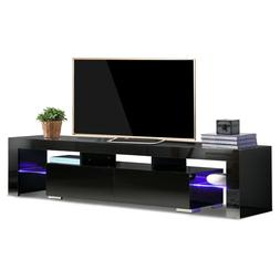 High Gloss TV Stand Unit Cabinet Console Furniture w/2*LED S