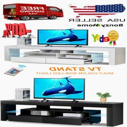 High Gloss TV Stand Unit Cabinet Console W/ Drawers LED Ligh
