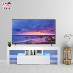 High Gloss White 51'' TV Stand Unit Cabinet with LED Light 2
