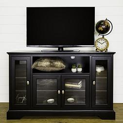 Walker Edison 52 in. Highboy Style Wood TV Stand in Black