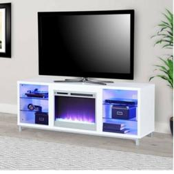 """Ameriwood Home Lumina Fireplace TV Stand for TVs up to 70"""" W"""