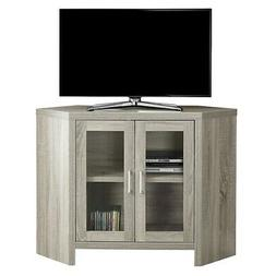 Monarch Specialties I2701 Tv Stand-42Inl/Dark Taupe Corner W