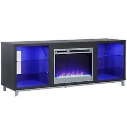 "Latitude Run Ilyse 65"" TV Stand with Fireplace"