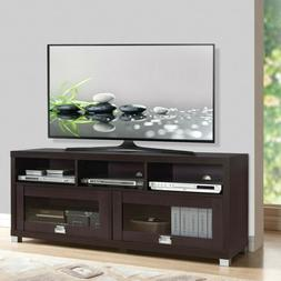 """Industrial 58"""" Rustic TV Stand Console Wooden Media Center w"""