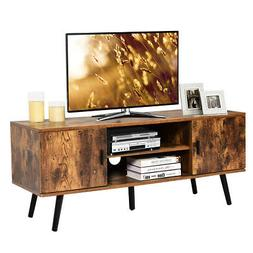 Industrial TV Stand Entertainment Center for TV's Up to 55""