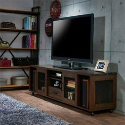 "BOWERY HILL 70"" Industrial TV Stand in Vintage Walnut"