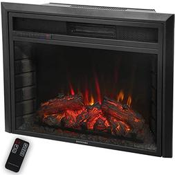 "Newfield 28"" Insert Electric Fireplace Adjustable Temperatur"