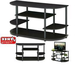 Furinno JAYA Simple Design Corner TV Stand For 43-Inch TV, E