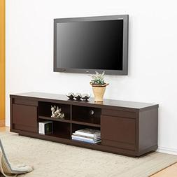 Furniture of America Kents 70 in. Walnut Entertainment Cente