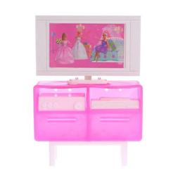 Kid Toy Doll Television Stand Dollhouse Furniture Miniature