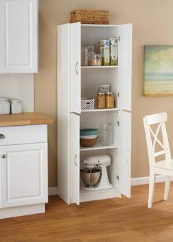 Kitchen Organizer Furniture Pantry Storage Cabinet White 4 D
