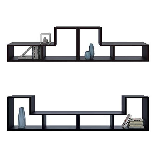 DEVAISE 3-in-1 Versatile Stand Bookcase Black