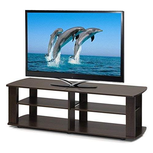 Furinno 11191BK THE Entertainment Center Black