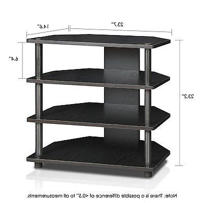 FURINNO Assembly 3-Tier Petite TV Stand,