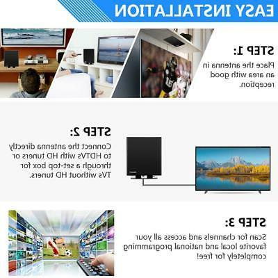 150Mile 1080P HD Indoor Amplified HDTV 4K Base