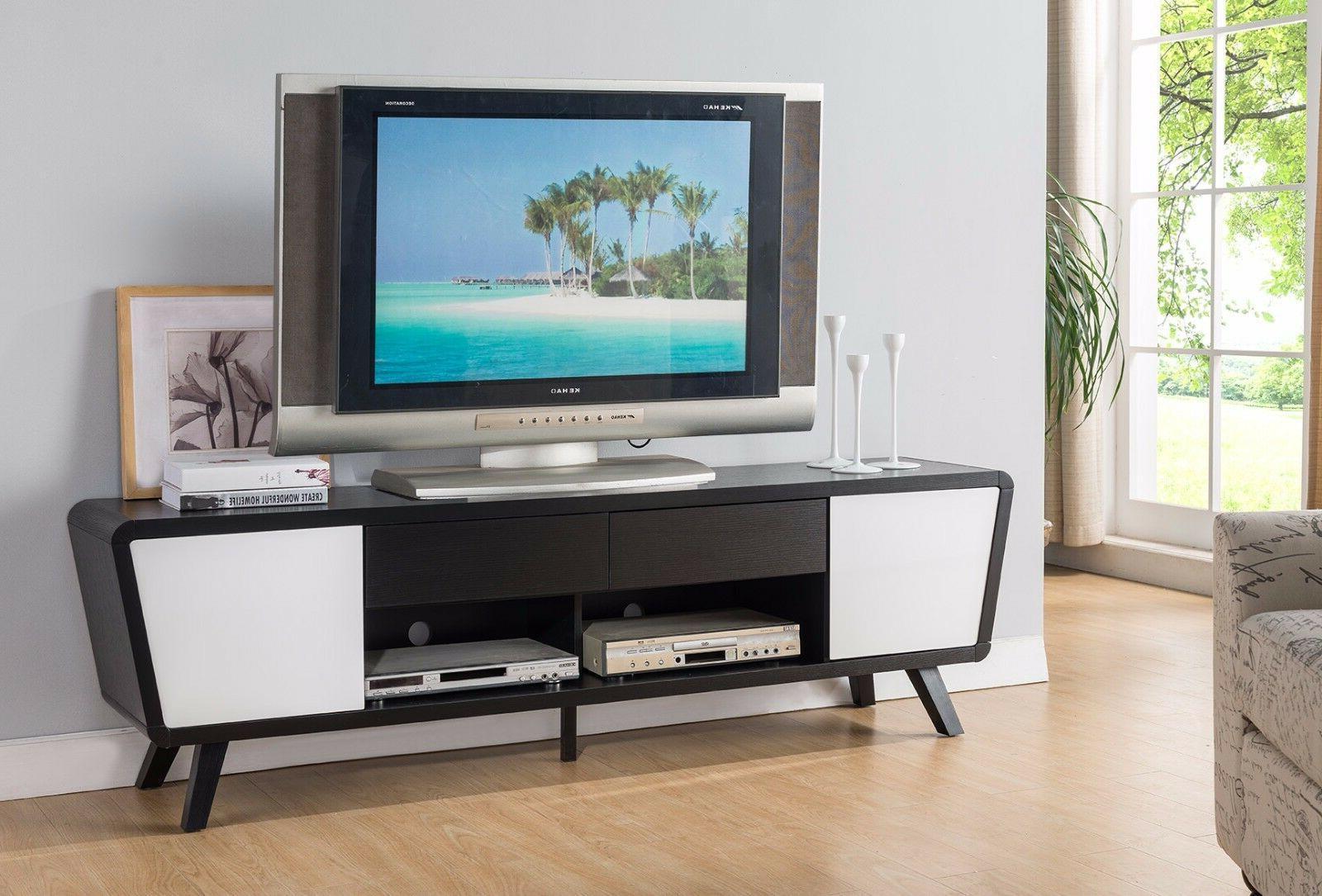 151365 74 tv stand modern alexa dark