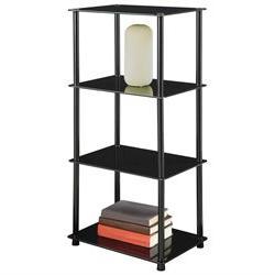 Convenience Concepts 157001B Midnight Classic Black Glass 4-