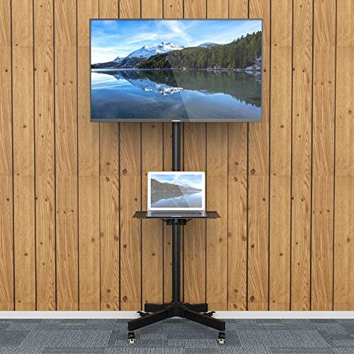 1homefurnit Mobile TV Floor Mount Display Trolley Plasma/LCD/LED