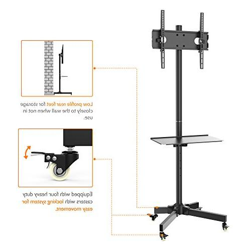 """1homefurnit Floor Stand Mount Display Trolley for 23""""-55"""" Plasma/LCD/LED Wheels"""