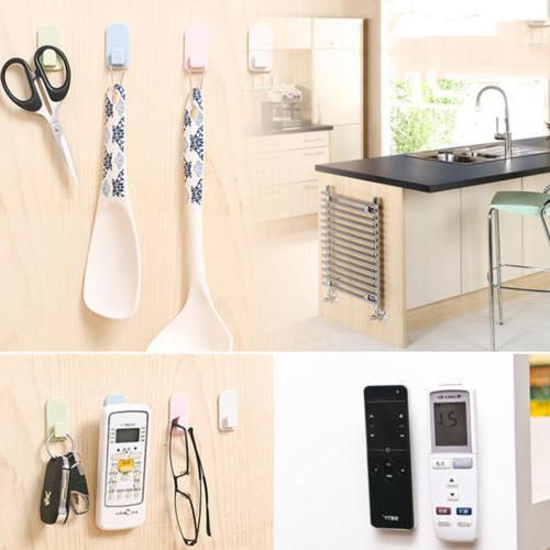 2PC TV Remote Hook Adhesive Organiser Storage Stand