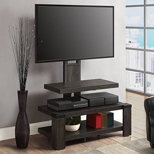 "Whalen 3 Shelf Stand for TV's up 46"", Weathered pine finish"