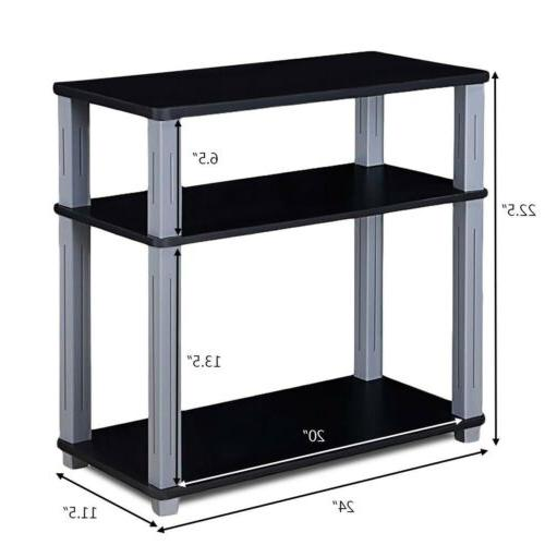 3-Tier TV Media Stand Display 2 US