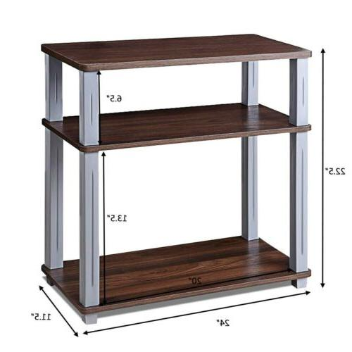 3-Tier Stand Component Console Display Colors