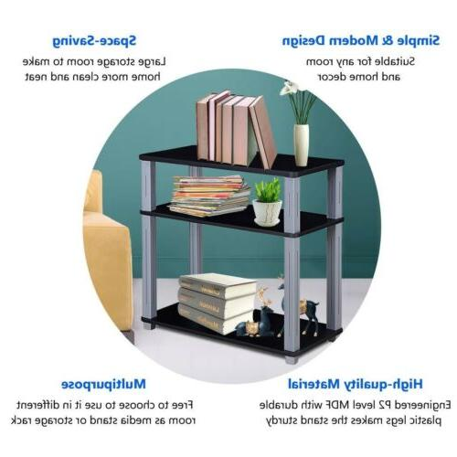 3-Tier Media Stand Display 2 Colors
