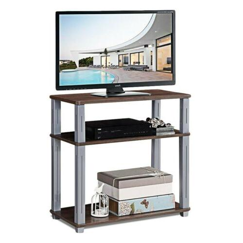 3-Tier TV Stand Component Console Multipurpose Shelf Display Colors