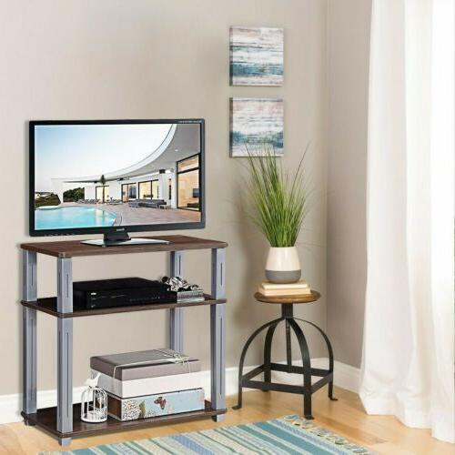 3 tier tv media stand component console