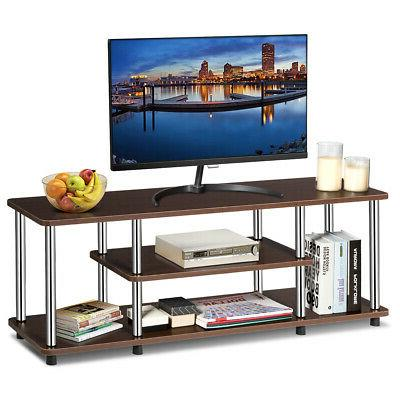 3-Tier TV Stand EPA Listed Stainless Steel Universal Withsta