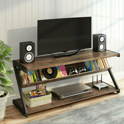 TV Stand with Shelves Home Entertainment Console Media Cente