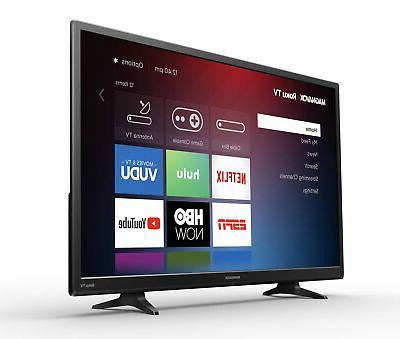 32 720p Roku TV Wall Mountable Included New