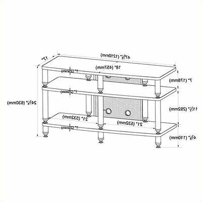 35000 series pro tv stand in silver
