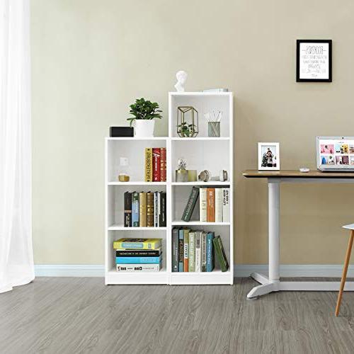 "SONGMICS Bookshelf File Shelves,Cube Storage Unit,15.7""L 9.4""W ULBC14WT"