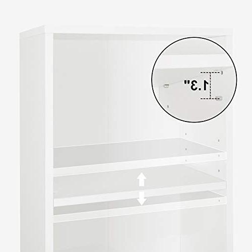 "SONGMICS Bookshelf Adjustable, Organizer Shelves,Cube Storage x 9.4""W x"
