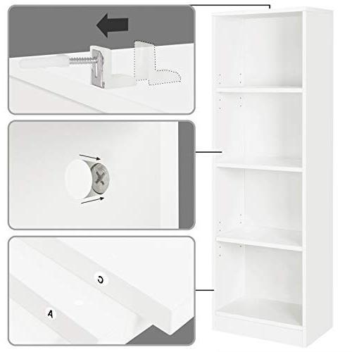 "SONGMICS Bookcase Bookshelf Shelves,Cube Storage Unit,15.7""L x 9.4""W ULBC14WT"