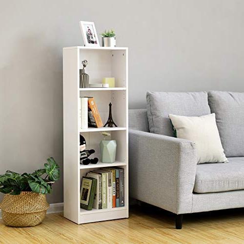 "SONGMICS 4-Shelf Bookshelf Shelves,Cube Unit,15.7""L 9.4""W ULBC14WT"