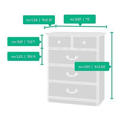 4-Drawer Stand Wood Furniture w/ Metal and Stops