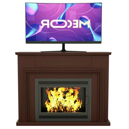 """43"""" TV Stand Unit Console Fireplace Mantel Surround Living R"""