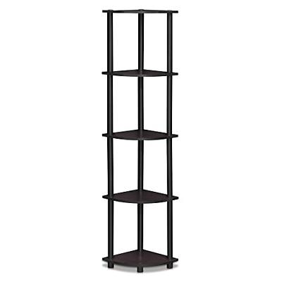 5 Tier Corner Shelf Storage Display Rack Home Bookcase Bathr