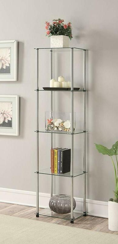 Convenience Concepts 5-Tier Glass Tower Storage Furniture St