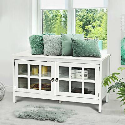 """50"""" Modern TV Stand Console Storage Cabinet w/Double Doors"""