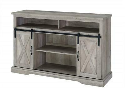 """52""""TV Stand Cabinet W/Sliding Barn Door Console Table Storag"""