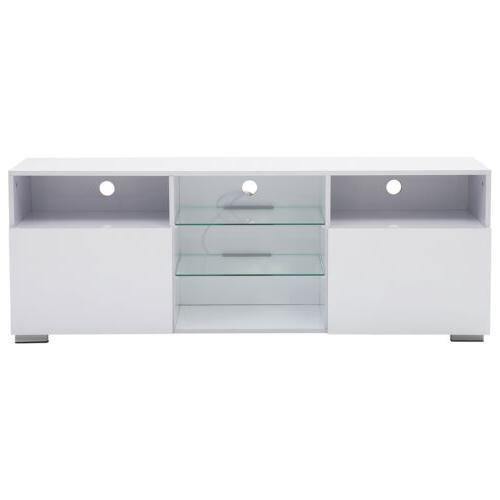 "58"" High Gloss Cabinets Console Doors 2 Shelves"