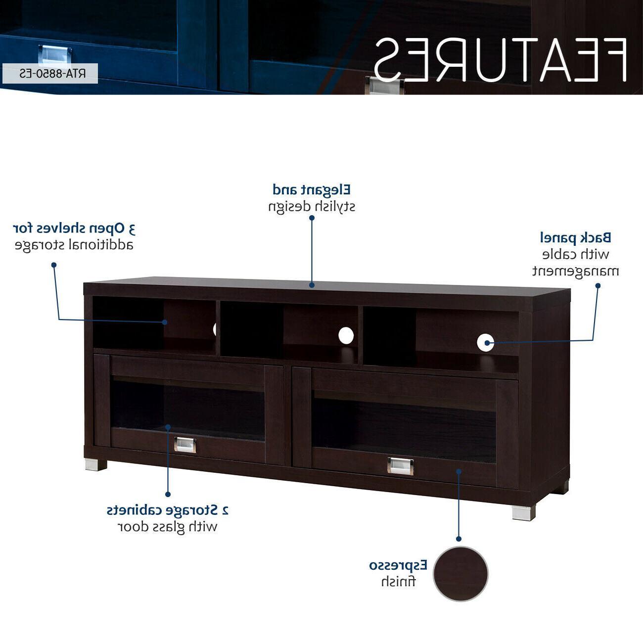 """Techni 58 Durbin Stand 75"""" Espresso Glass"""